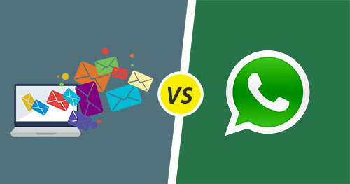 Newsletter de Whatsapp Vs. E-mail: 5 diferenças fundamentais